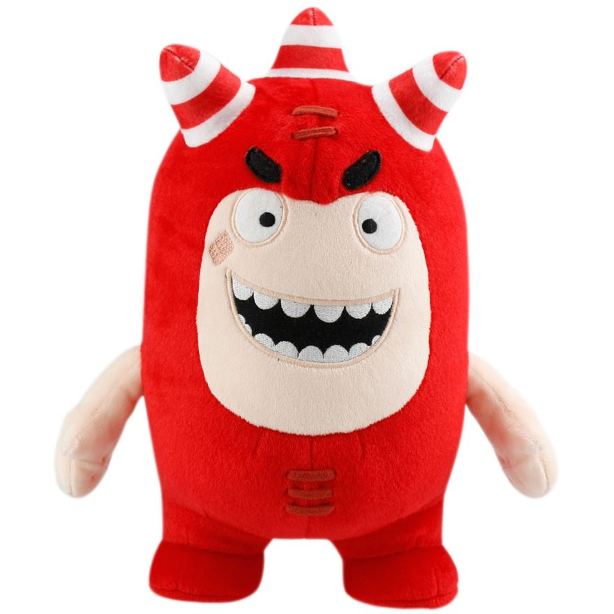 Oddbods Super Sounds Soft Toy Fuse image-0