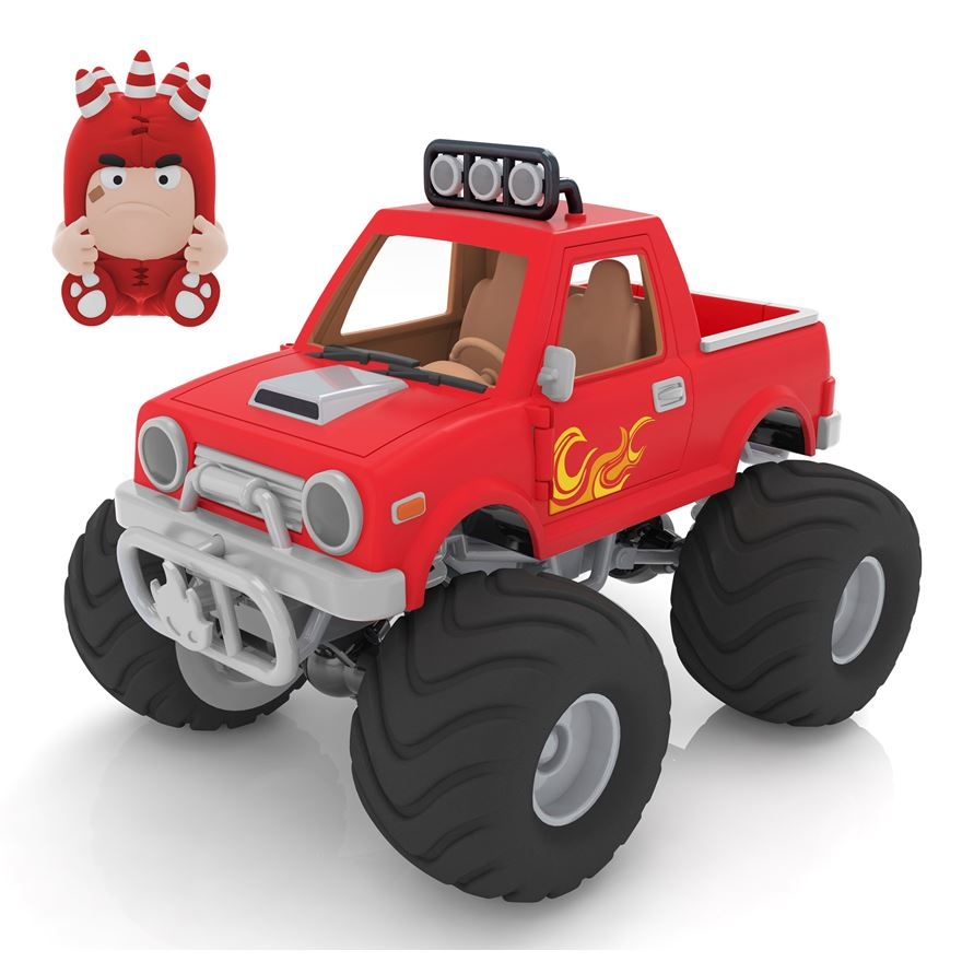 Oddbods Action Vehicle Fuse Monster Truck image-0