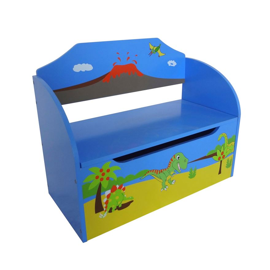 Dinosaur Wooden Toy Box