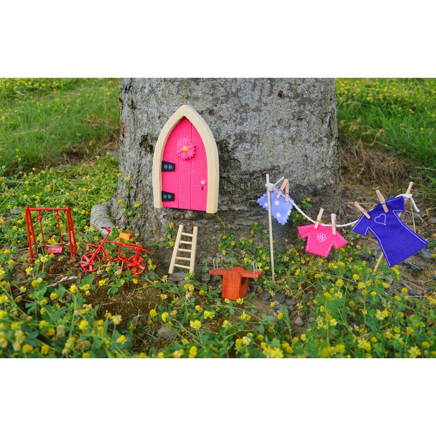 Irish Fairy Door Pink Arch Sparkle image-0