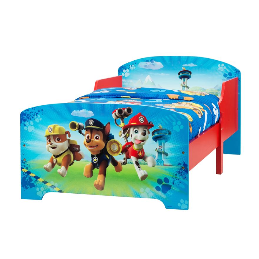 Paw Patrol Wooden Toddler Bed image-0