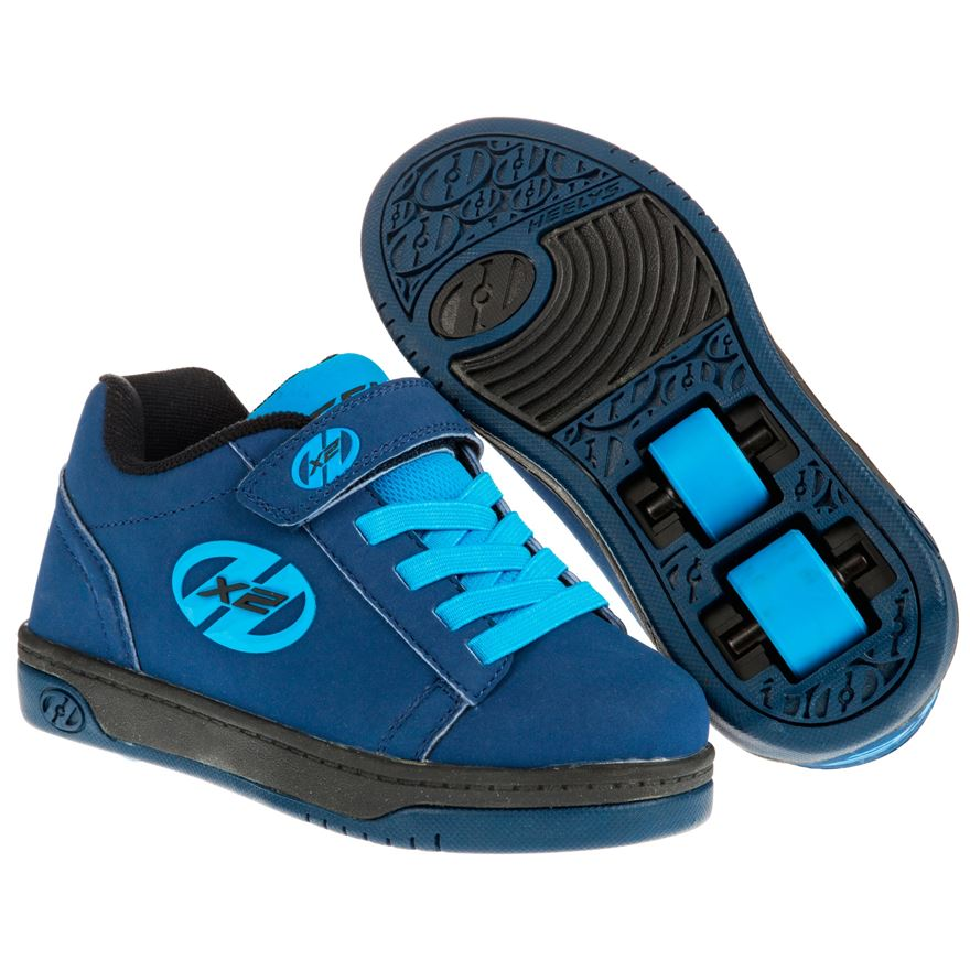 Heelys X2 Dual Up Navy New Blue UK 13 image-0