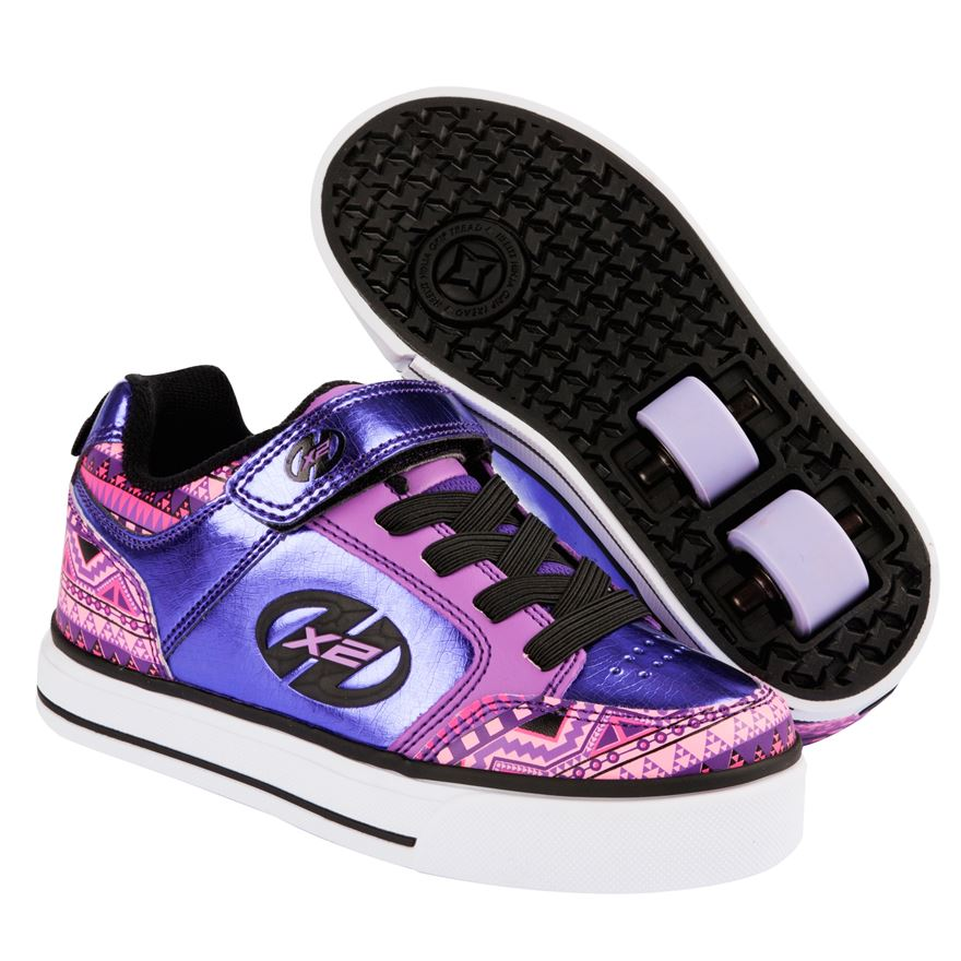 Heelys Thunder X2 Purple Mult Print UK 12 image-0