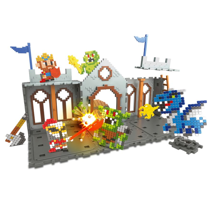Qixels Kingdom Castle Attack Playset image-0