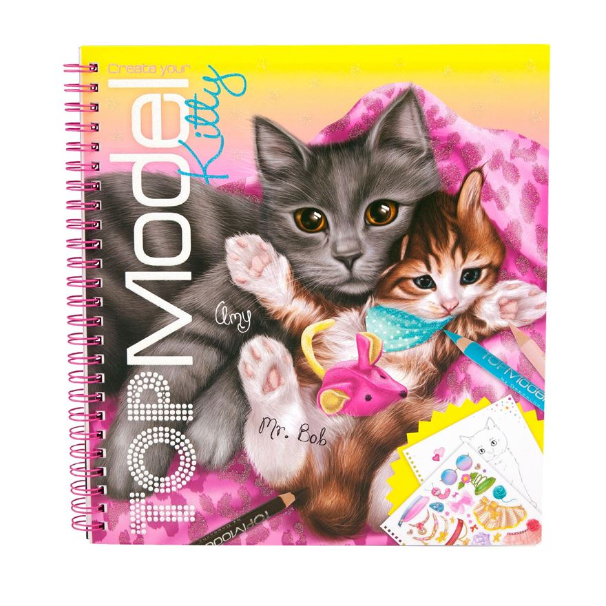 Create Your TOPModel Kitty - Colouring Book image-0