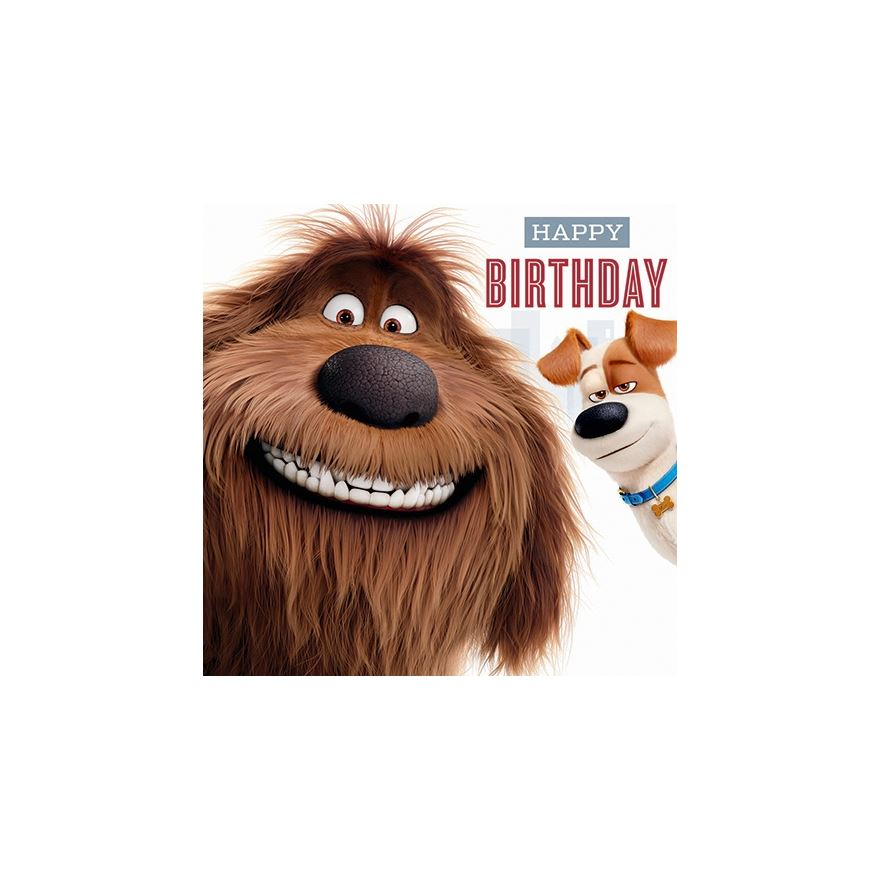 Secret Life of Pets Card