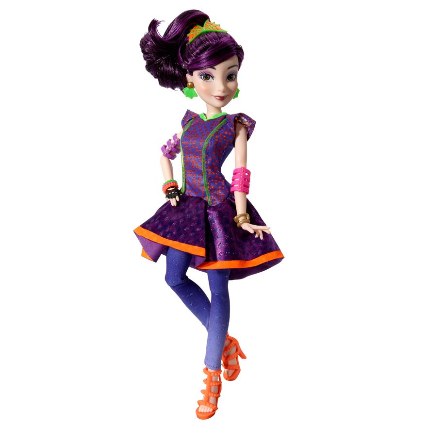 Disney Descendants Mal Neon Lights Feature Doll image-0