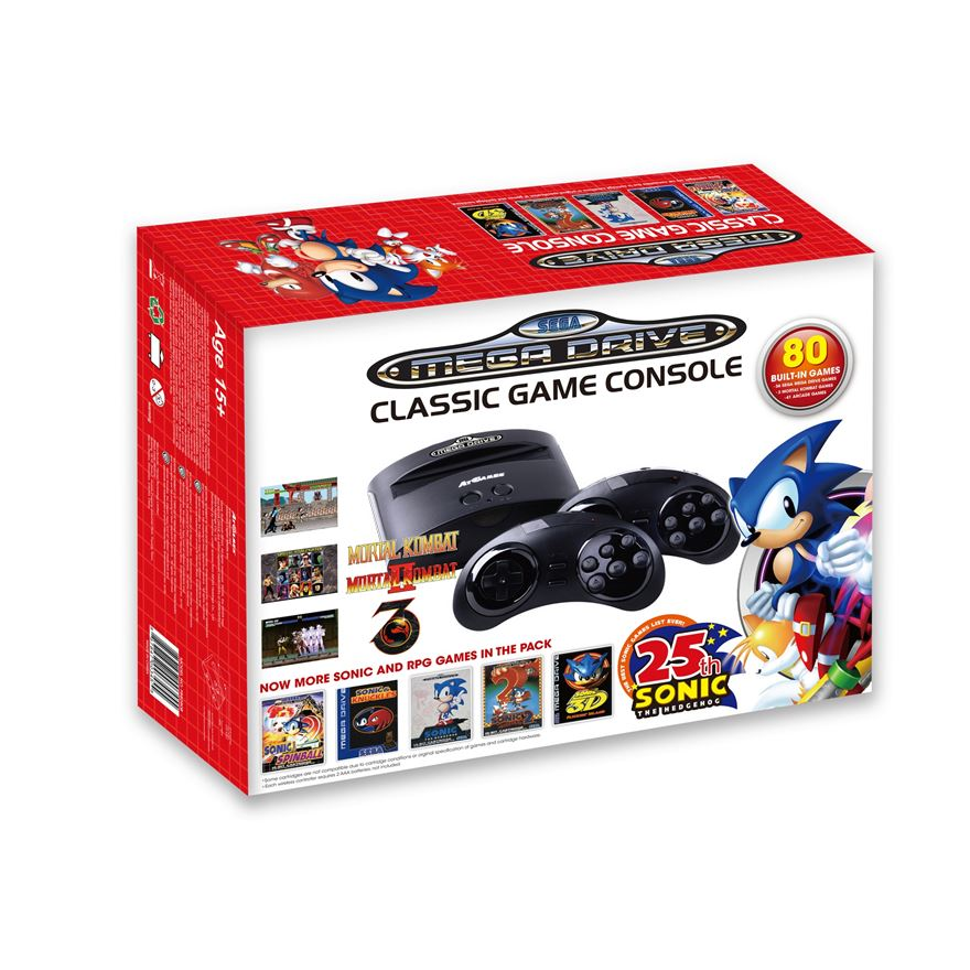 Sega Mega Drive Classic Game Console with 80 Games image-0