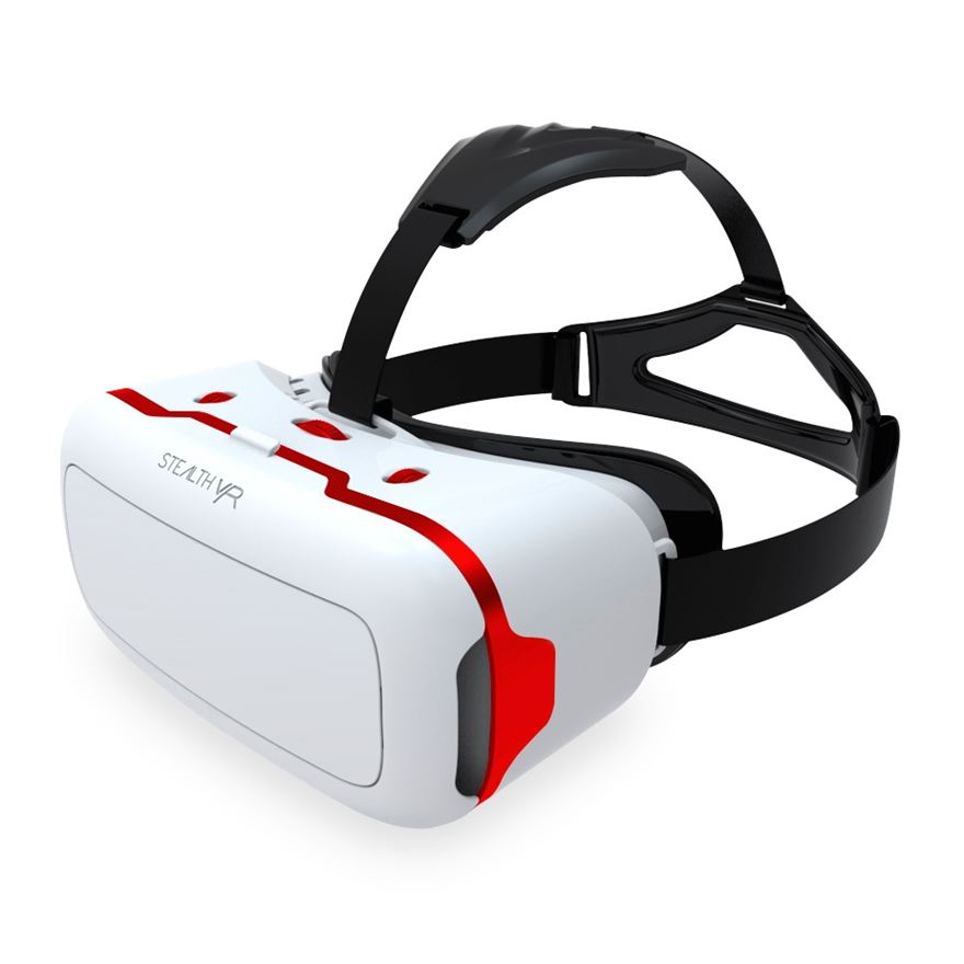 Stealth VR Headset - White with Red Trim image-0