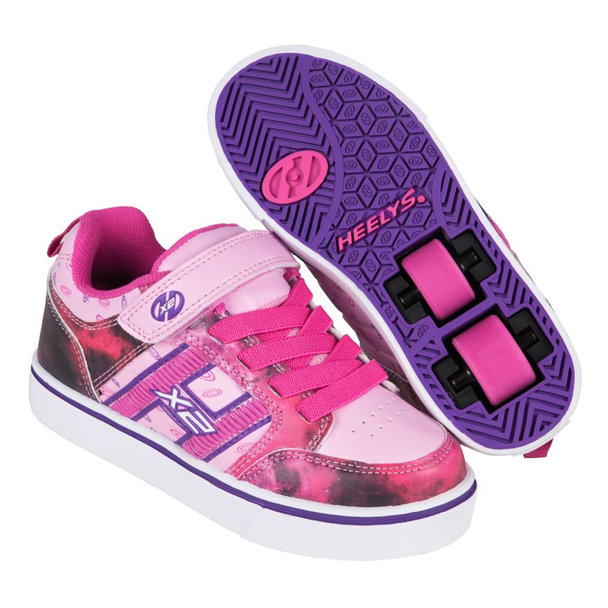 Heelys X2 Bolt Plus Pink/Purple/Space UK 13 image-0