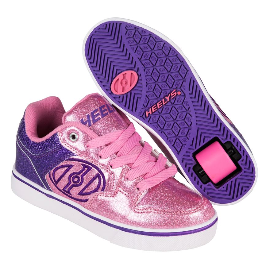 Heelys Motion Plus Purple/Pink Glitter UK 2 image-0