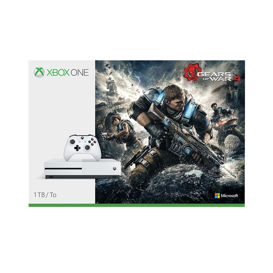 Xbox One S 1TB Gears of Wars 4 Console image-0