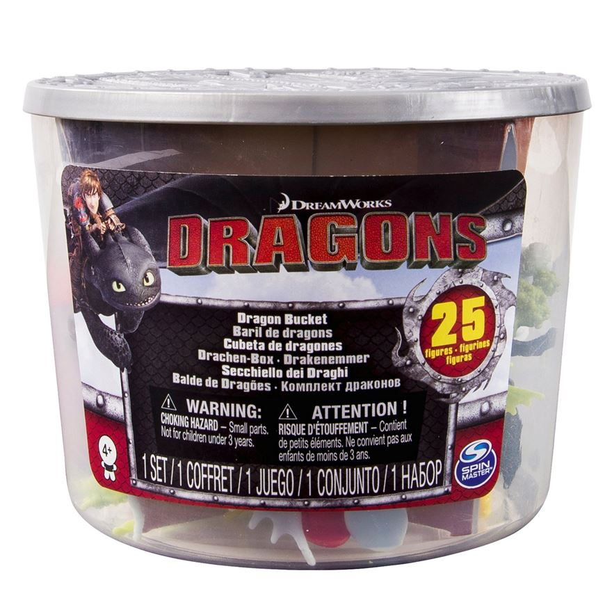 Dreamworks Dragons 25 Figures Bucket