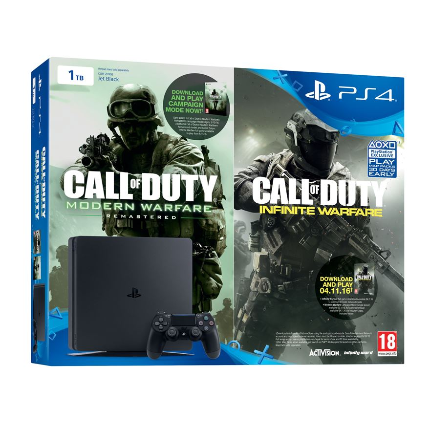 PlayStation 4 1TB Slimmer Call of Duty: Infinite Warfare Early Access Bundle