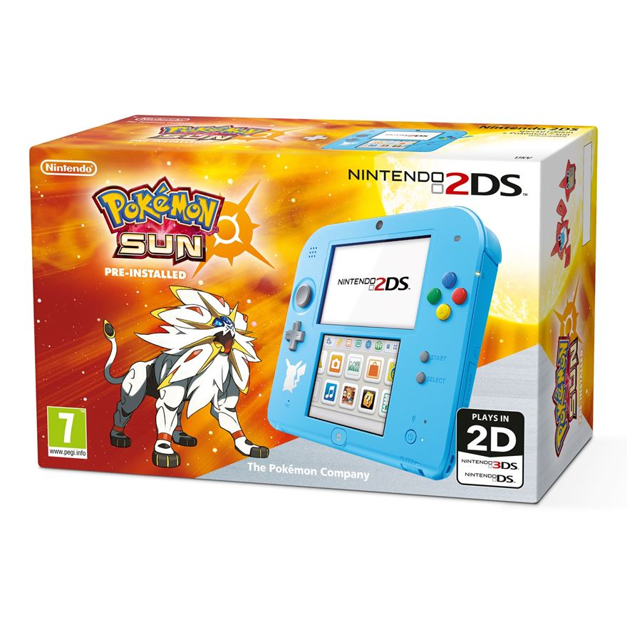 Nintendo 2DS Special Edition Console + Pokémon Sun (Pre-Installed)