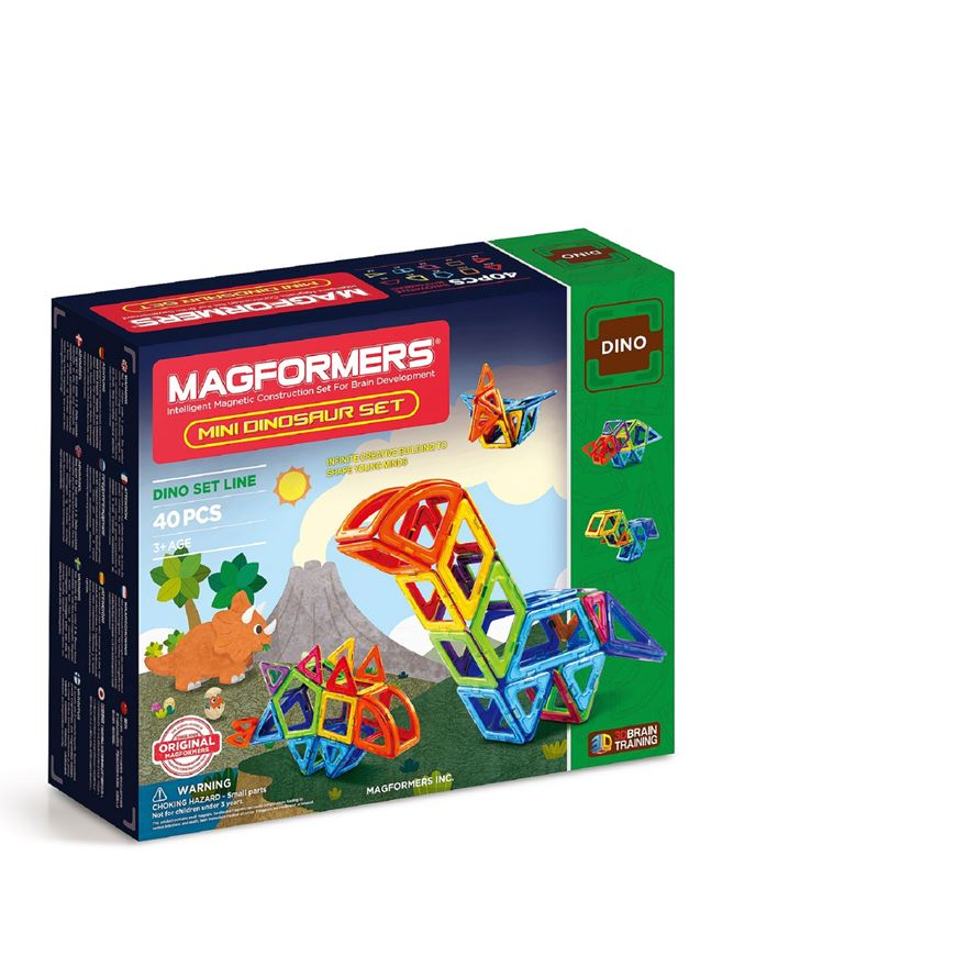 Magformers Mini Dinosaur Set 40 piece image-0