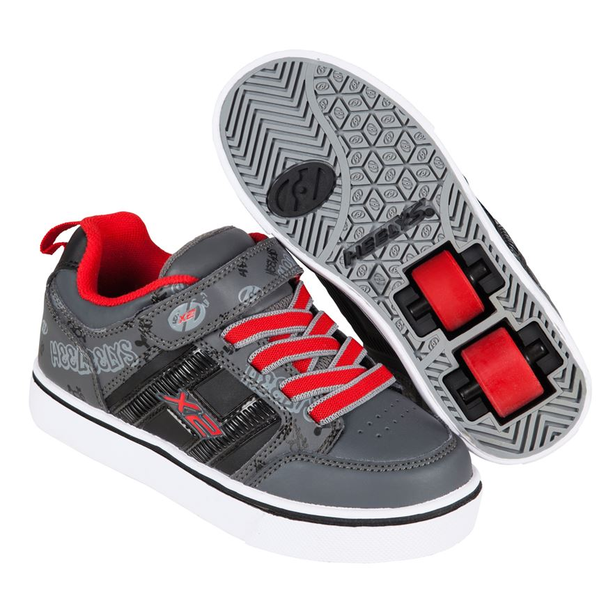 Heelys X2 Bolt Black/Grey/Red UK 3 image-0