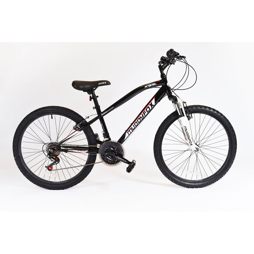 24 Inch Muddyfox Midnight Black Prevail Hardtail Bike image-0