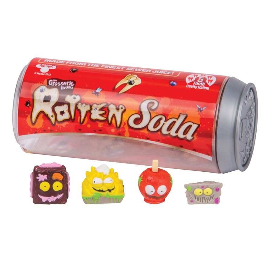 Grossery Gang Soda Can Series 2 4 figure pack image-0