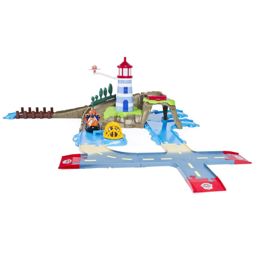 Paw Patrol Roll Patrol Skye & Zuma's Lighthouse Rescue Track Set image-0