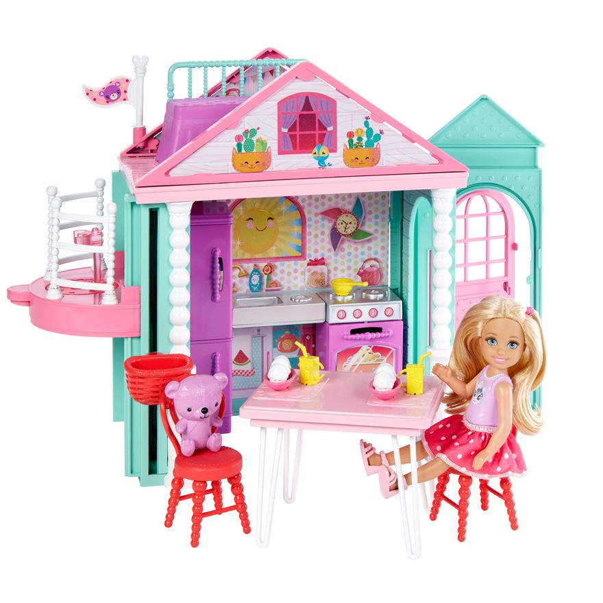 Barbie Club Chelsea Playhouse and Doll image-0