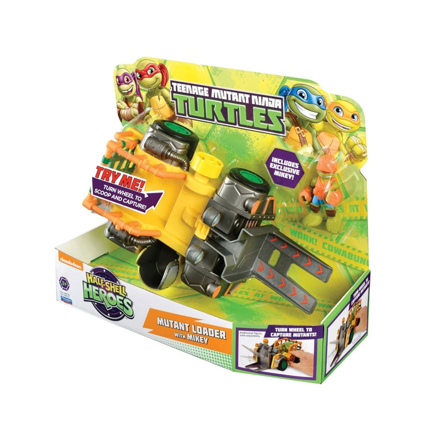 Turtles Half-Shell Heroes Mutant Loader Vehicle with Mikey image-0