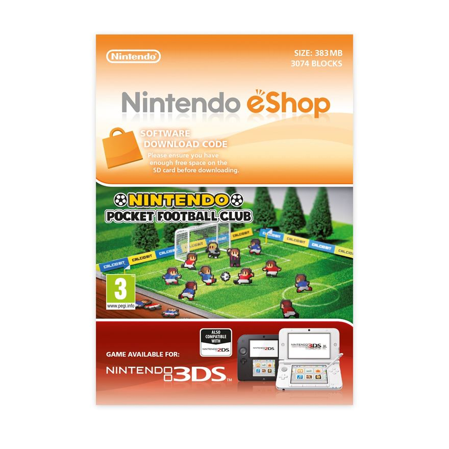 Nintendo Pocket Football Club 3DS DOWNLOAD CARD