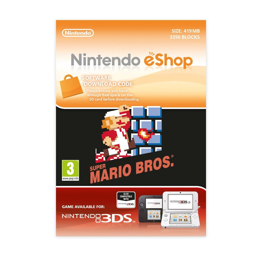 Super Mario Bros 3DS DOWNLOAD CARD