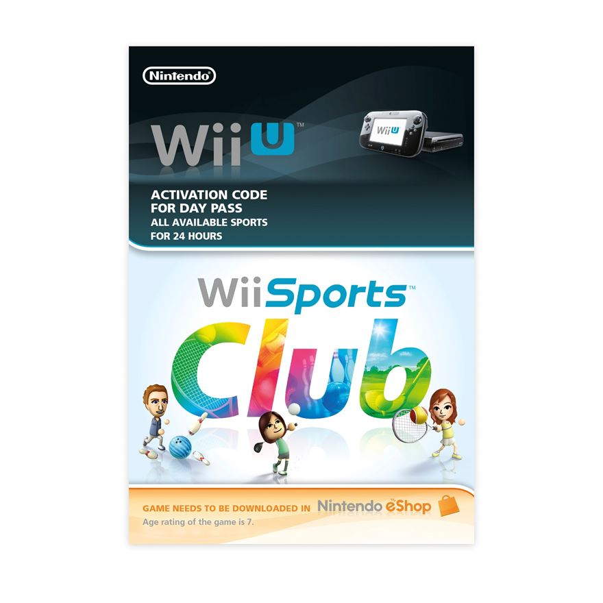 Wii Sports Club 24hr Pass Wii U DOWNLOAD CARD