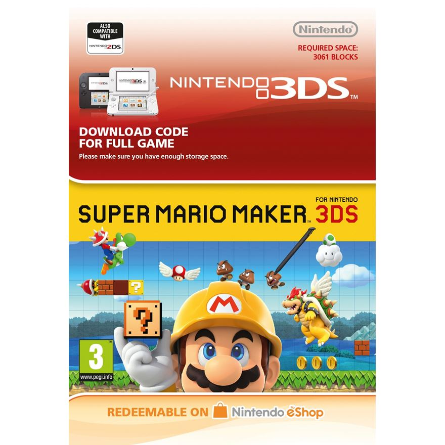 Super Mario Maker 3DS Digital Download - Digital Downloads Ireland