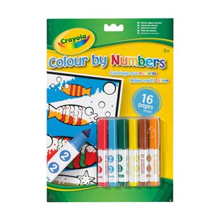 Crayola Colour By Numbers With Markers