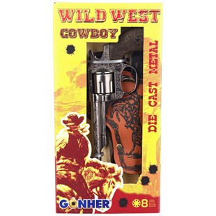 Gohner Wild West Cowboy Single Toy Gun Set