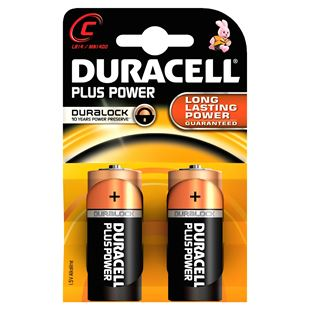 Duracell Plus C Size 2 Pack Batteries