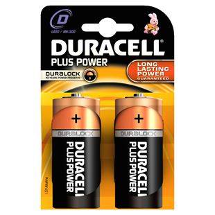 Duracell Plus D Size 2 Pack Batteries