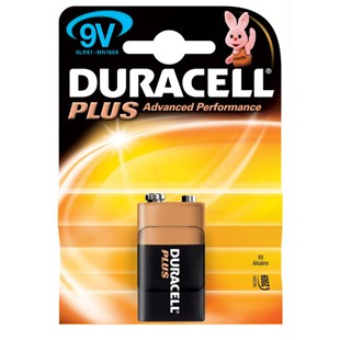 Duracell Plus 9 Volt Single Battery