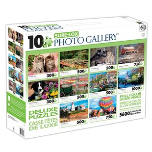 10 Deluxe Jigsaw Puzzles - Assorted Styles