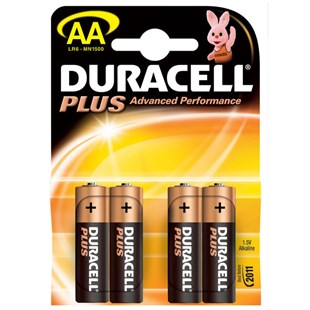 Duracell Plus AA 4 Pack Batteries