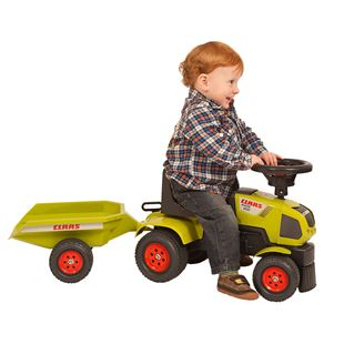 Baby Claas Sit n Ride Tractor and Trailer