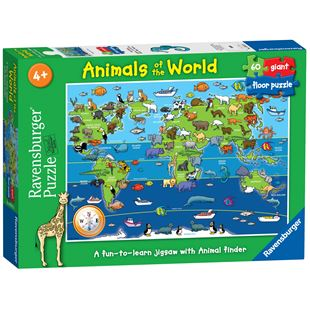 Ravensburger World Animal Giant Floor Puzzle 60 Piece