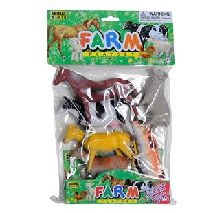 Farm Animals 6 Piece Play Set