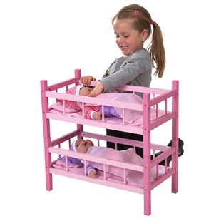 Doll's Pink Wooden Bunkbeds