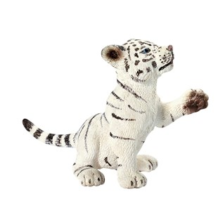 Schleich Tiger cub white, playing