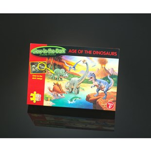 Glow in the Dark Age of the Dinosaurs 100 Piece Puzzle