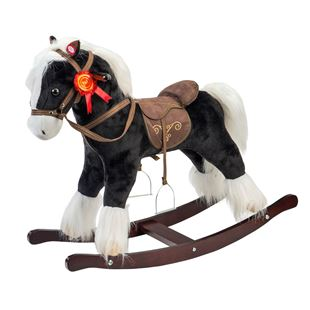 Plush Black Rocking Horse