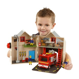 Fireman Sam Deluxe Firestation Playset