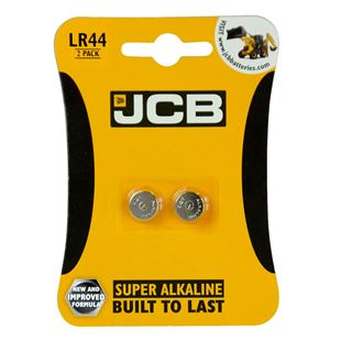 JCB LR44 2 Pack Batteries