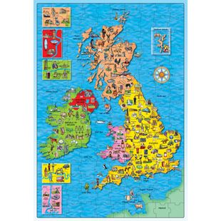 Orchard Toys Great Britain and Ireland Puzzle and Poster