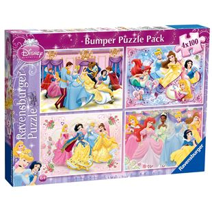 Ravensburger Disney Princess 4x100pc Bumper Jigsaw