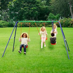 Delta Double Swing and SeeSaw Swing Set