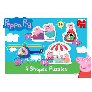 Peppa Pig 4 in 1 Shaped Puzzles